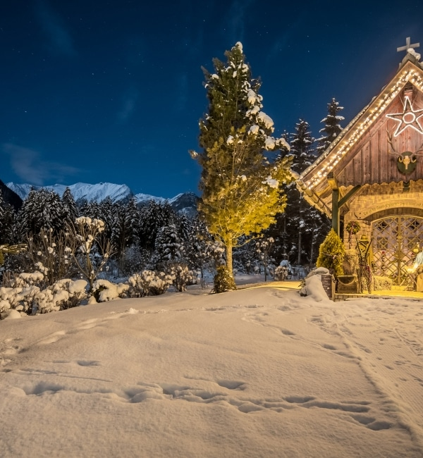 Hubertus Kapelle im Winter