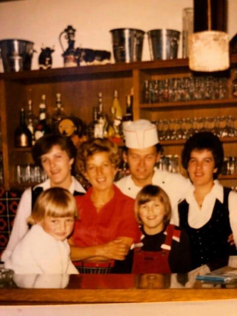 Altes Foto der Gastgeberfamilie Gaßner aus dem Jahr 1970